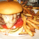 Cheeseburger at Peels (photo by MJ Byers)