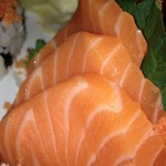 Salmon Sashimi at Shinju Sushi (photo by MJ Byers)